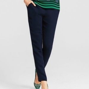Cabi Navy Blue Perfect Pull On Ankle Pant